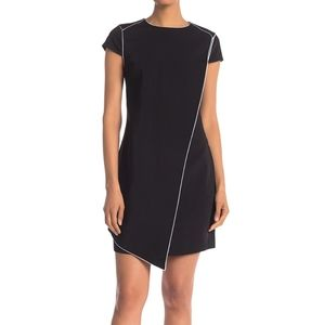 Ted Baker London 4 Assymetric Tunic Black Dress